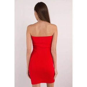 Tobi Dresses - 🆕 Red Strapless Sweetheart Cutout Bodycon Dress